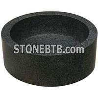 cheap india black marble sink