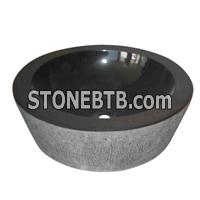 cheap decorative china mongolia black Granite sink basin