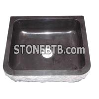 cheap decorative china jet black Granite sink basin