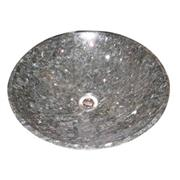 cheap round silver pearl granite sink basin