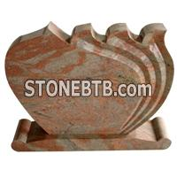 cheap china multicolor red granite tombstone