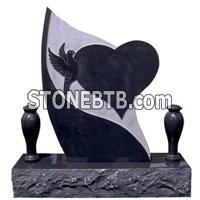 cheap china shanxi black granite monument