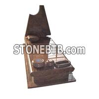 cheap pink red granite tombstone