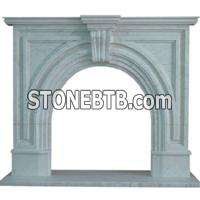 China Natural Carrara White Marble Fireplace