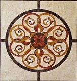 stone waterjet floor pattern and medallion