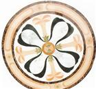 round natural waterjet marble medallion design