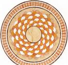 Round Waterjet Marble Medallion Design