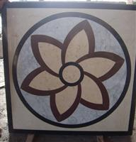 Chinese Square marble floor medallion