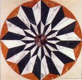 Cheap Waterjet Marble Floor Medallion