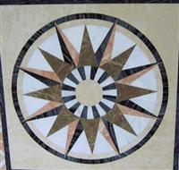 Cheap waterjet marble pattern and medallion