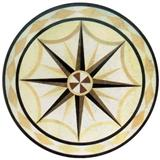 Cheap Round Waterjet Marble Medallion