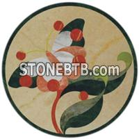 Cheap marble water jet inlay medallion