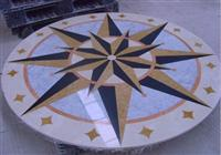 Cheap Round marble stone medallion,waterjet inlay