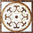 light dark emperador stone medallion & pattern