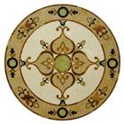home decoration waterjet stone medallion