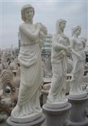 Cheap China white marble stone woman statue