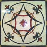 Square Flooring water jet marble medallion