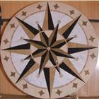 Round Water jet marble medallion flooring tile
