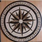 Light Emperador Water jet Marble Floor Medallions