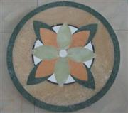 Indoor water jet marble medallion floor