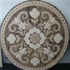 pretty brown marble water jet medallion