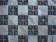 3d beige and green stone mosaic