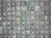 3D Building Material Green Stone Mosaic