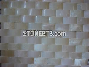 cheap 3D white onyx stone mosaic tiles pattern