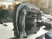 cheap balck granite stone angel monuments