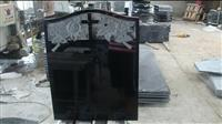 cheap shanxi black cross granite stone monument