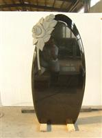 cheap black carving flower stone monuments