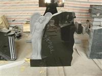 cheap angel style granite tombstone