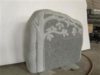 cheap china grey tree style granite tombstone
