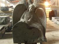 chinese angel granite upright stone headstone