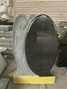 Natural Granite Tombstone with angle Carving