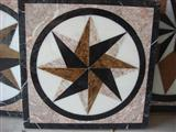 China Square star design water jet medallion
