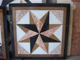 Decorative Square star design water jet medallion