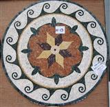 decorative round marble stone mosaic pattern