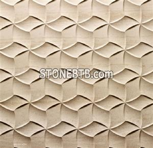 3D CNC artificial stone wall wave panel tile