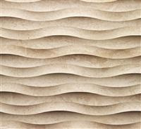 3D CNC Beigeg stone wall wave panel tile