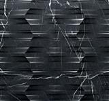 nero black 3d stone wall art tile