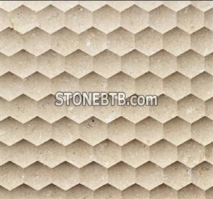 Natural Beige Stone 3D wall covering Tile
