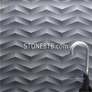 3d grey indoor feature stone wall art panel