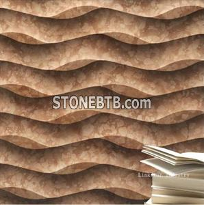 Natural stone 3d design panels for walls