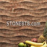 3D CNC feature stone wall panels design