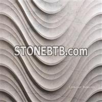 3d decorative wavy stone interior design panels