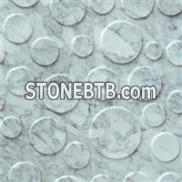 3D CNC white carrara stone wall panels