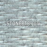 3D White Carrara Natural Sculptural Stone Panel