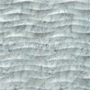 3d natural wavy carrara white marble feature covering tile