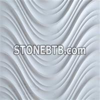 3D decorative wavy stone internal wall cladding